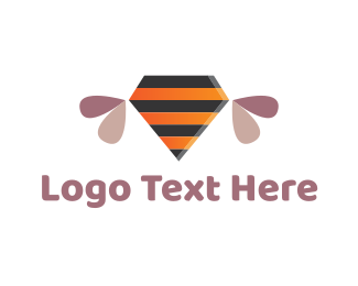 Honeybee - Diamond Bee logo design