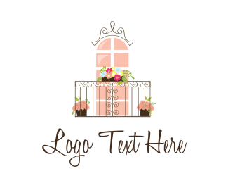 Vintage - Flower Balcony logo design
