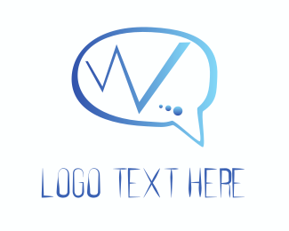 Letter W - Web Chat logo design