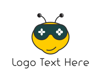 Honeybee - Gamer Bee logo design