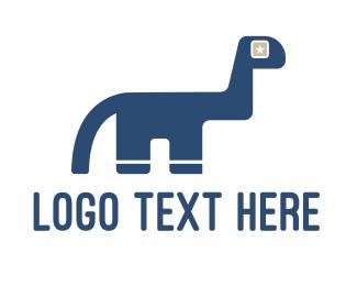 Prehistoric - Dinosaur Star logo design