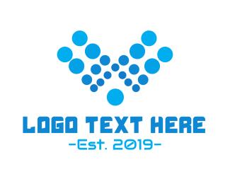 Letter V - Aqua Letter V logo design