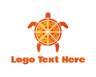 Pepperoni - Turtle Pizza logo design