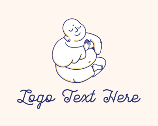 India - Buddha Praying logo design