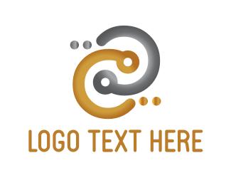 Social Network - Gold & Silver Connection logo design