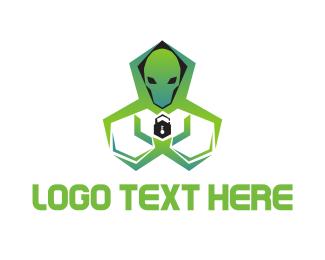 Hack - Alien Security logo design