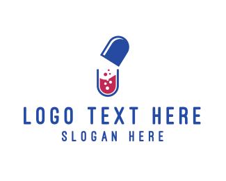 Pill - Capsule Lab logo design