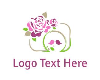 Kiss - Roses & Camera logo design