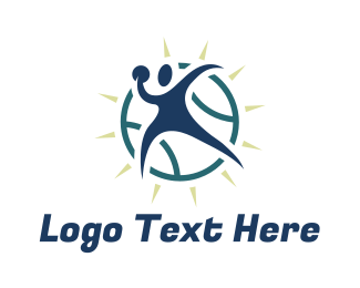 Baseball - Abstract Pitcher logo design