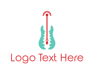 Guitarist - Winged Guitar logo design