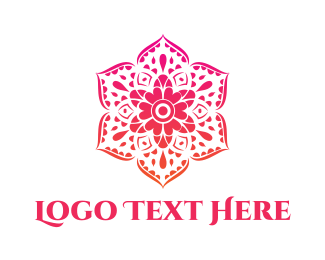 Greeting Card - Pink Articulated Flower logo design