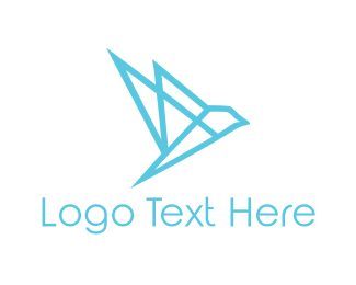 Alliance - Geometric Blue Bird logo design