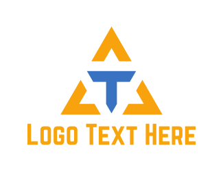 Activewear - Letter T Triangle  logo design