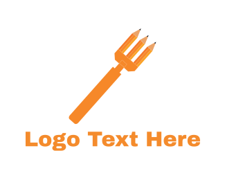 Fork - Pencil Fork logo design