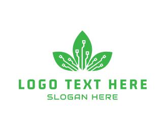Motherboard - Digital Leaf logo design
