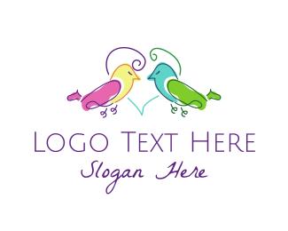Wedding - Couple Birds logo design