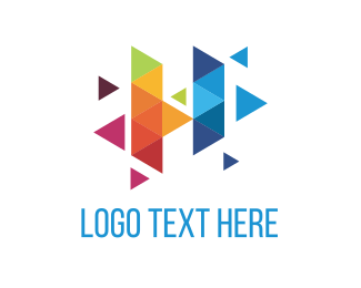 Glass - Colorful Triangles logo design