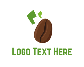 Coffee - Brown Coffee Bean logo design
