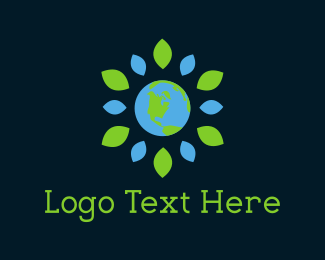 Earth - Flower Planet logo design