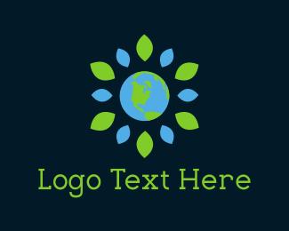 Planet - Flower Planet logo design