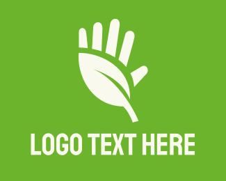High Five - Head Leaf logo design
