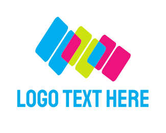 Bright - Colorful Blocks logo design