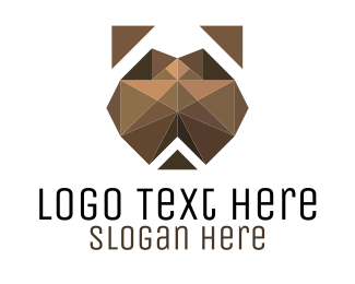 Hound - Geometric Dog logo design