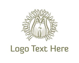 Sunflower - Owl & Flower logo design
