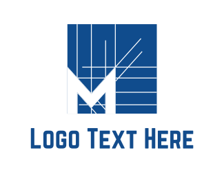Real Estate - Architectural M logo design