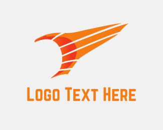 Falcon - Orange Eagle logo design