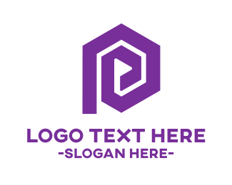 Media - Purple Hexagonal Media Player logo design