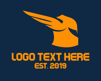 Postal Service - Helmet Wings logo design