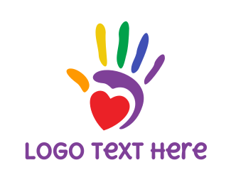 Lgbt - Colorful Handprint  logo design