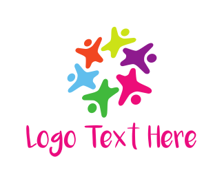 Crowd - Colorful Kids logo design