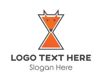 Hourglass - Fox Hourglass logo design