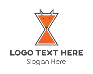 Fox - Fox Hourglass logo design