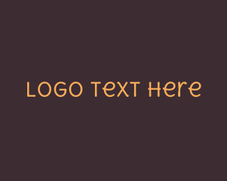 Type - Friendly Handwritten Text logo design