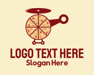 Pizza - Pizza Helicopter logo design