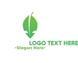 Ufo - Alien Leaf logo design
