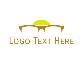 Ophthalmologist - Sunset & Glasses logo design