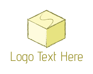 Fudge - Yellow Cube logo design