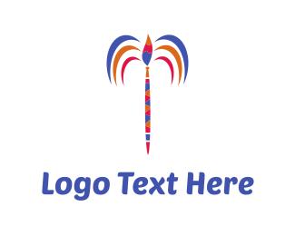 Paintbrush - Art Palm logo design