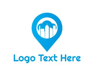 Program - Blue Urban Pin logo design