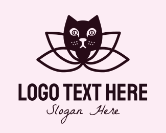 Adorable - Lotus Cat logo design