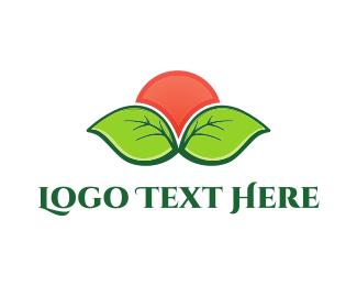 Herbal - Organic Sunset logo design
