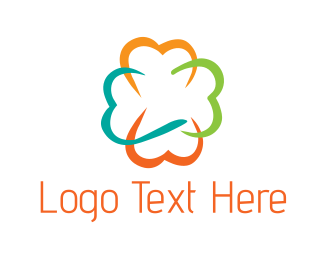 Cotton - Cloud Flower logo design