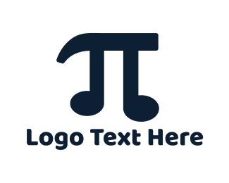 Mathematics - Pi Music logo design