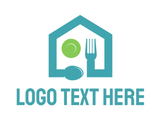 Plate - Food House logo design