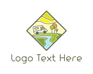 Rv - Recreational Vehicle logo design