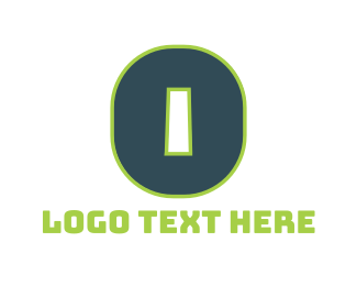 Number 0 - Green Letter O logo design